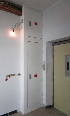 Brandschutzrevisionsabschluss in einem Industriegebäude